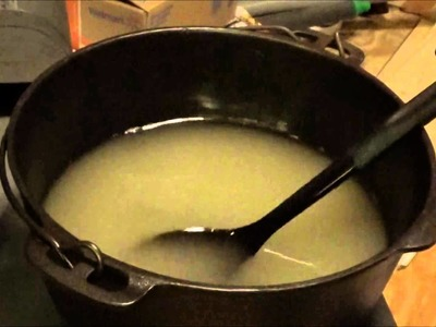 How To Make All Natural Cold Process Soap On A Wood Stove