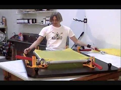 How To Screen Print: Stretching Roller Frames