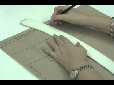 Lesson 2-8  EXTRA SMALL Back Skirt Part 4 - PATTERN MAKING OF A BASIC DRESS WITH WAISTLINE