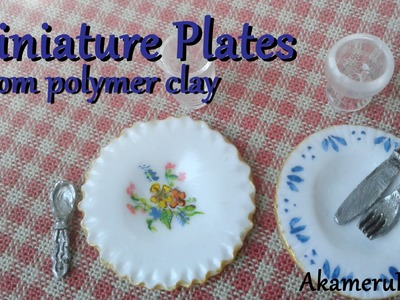 Miniature Plates Tutorial - Polymer clay Dollhouse miniature