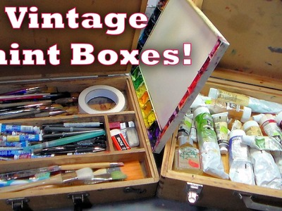 My Vintage Painting Boxes! {what's in them?}
