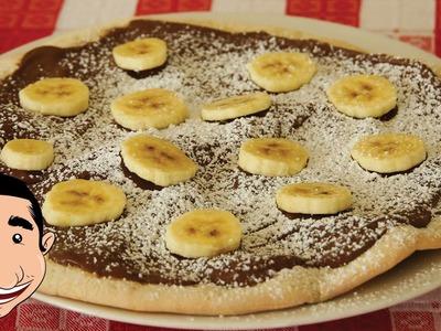 Nutella Pizza recipe | How to make Nutella and Banana Pizza | Dessert Pizza
