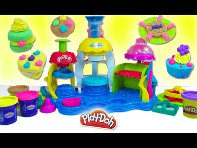 Play Doh frostin Fun bakery playset sweet shoppe playdough cupcake cake toys