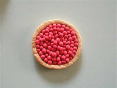 Polymer Clay Cherry Pie Tutorial