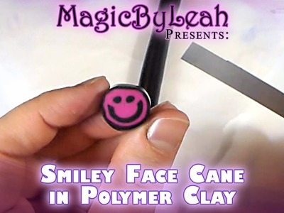 Polymer Clay Smiley Face Cane Beginner Tutorial Video