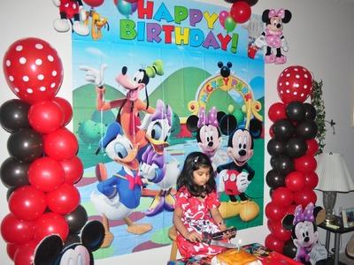 Samayera's mickey mouse bday party. birthday decorating ideas.