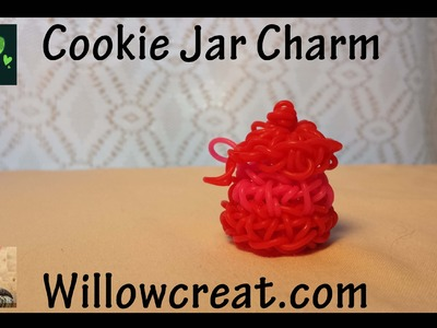 Cookie Jar Charm - Rainbow Loom - Made by Hook only