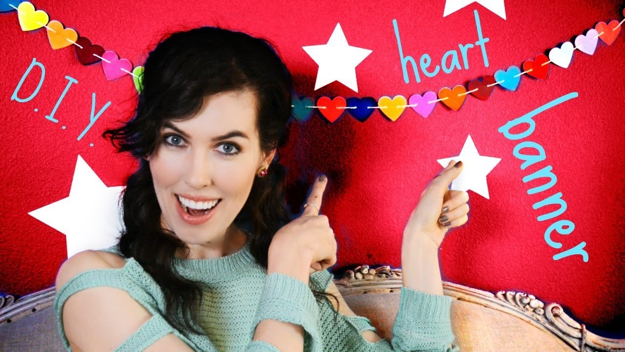 ♥ D.I.Y. ♥ Heart Banner!