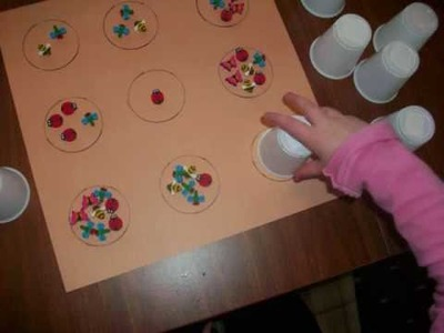 Fine Motor and Upper Extremity Activity - Hidden Cups