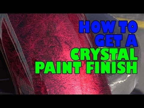 How to get a crystal paint finish