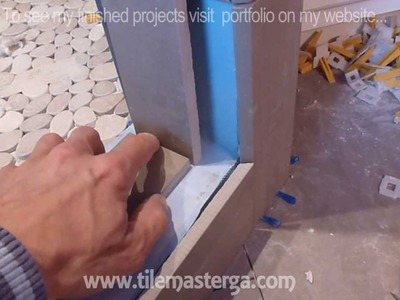 How to install shower surround tile backer board & waterproofing membrane PART