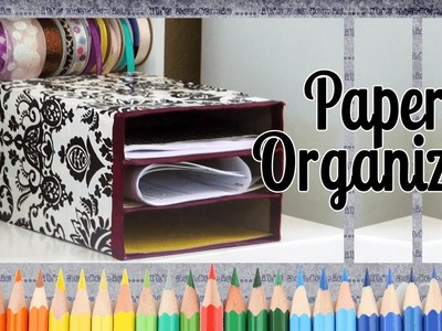 How to Make a Paper Stacker - Back to School Ideas