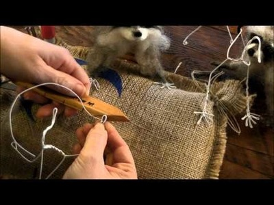 How To Needle Felt Animals:  Raccoon 1 by Sarafina Fiber Art
