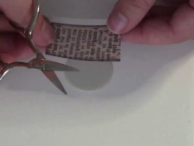How to transfer old dictionary words onto polymer clay