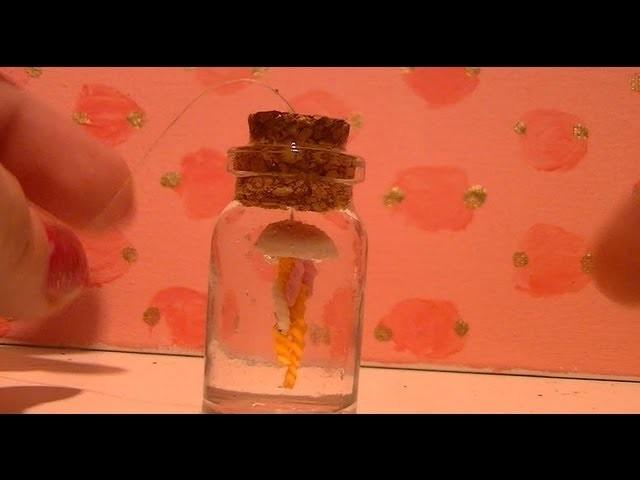 Jellyfish in a bottle charm tutorial (kawaii!!)