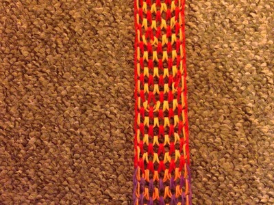 Loom band dragon scale scarf