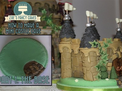 Mini Castle Cake Part 1 making the base How To Tutorial Zoes Fancy Cakes