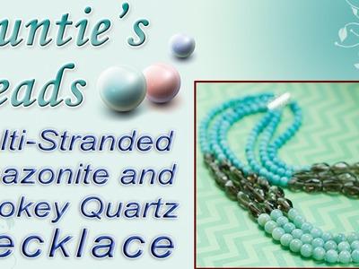 Multi-Stranded Amazonite and Smokey Quartz Necklace - Karla Kam