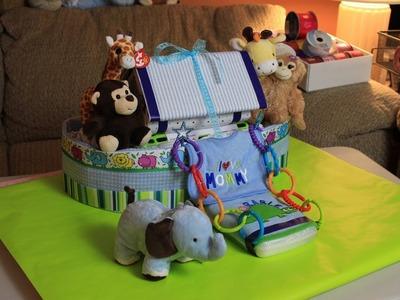 Noah's Ark Diaper Cake (How To Make)