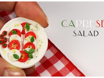 Polymer clay Caprese Salad TUTORIAL