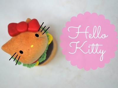 Polymer Clay Hello Kitty Burger!