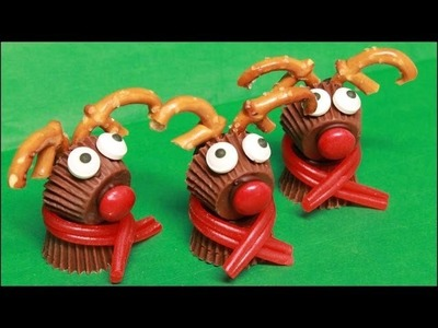Reese's PB Cup Rudolph the Red-Nosed Reindeer Treats!!