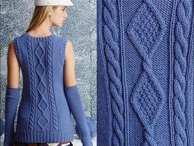 #6 Cabled Shell with Arm Warmers, Vogue Knitting Fall 2014