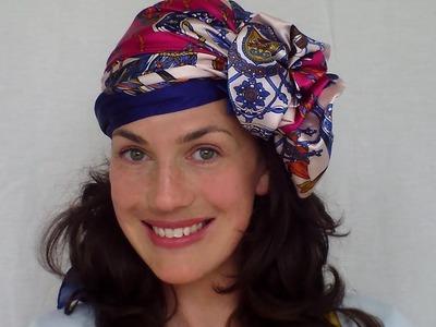 9 WAYS to wear a HAIR SCARF (vintage retro turban headwrap) - VINTAGIOUS