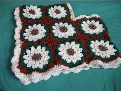 Childs Granny Square Poncho - Crochet Tutorial