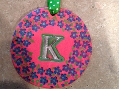 Colorful Monogrammed Ornaments - Mother's Day Craft Idea!