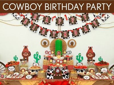 Cowboy Birthday Party Ideas. Cowboy - B11