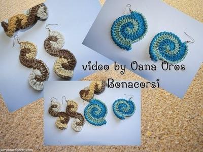 Crochet earrings & bracelet