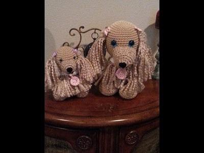 Crochet easy to follow Cocker Spaniel dog and puppy DIY tutorial part 1