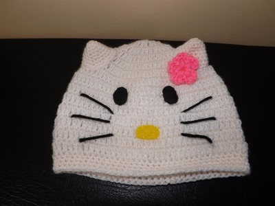 Crochet Hello Kitty Baby Hat