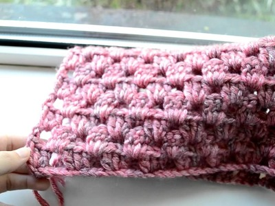 Crochet Lessons  - How to work straight rows based on the granny square - Part 1