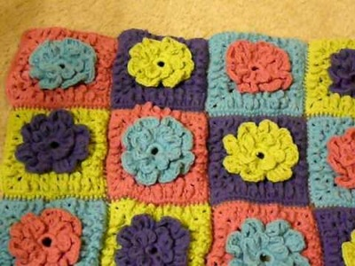 Crochet loopy flower afghan - Need help
