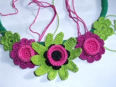 Crochet summer necklace by Fibreromance