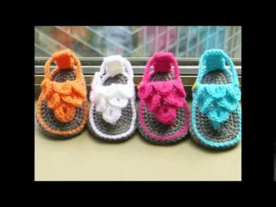 Crocodile Stitch Baby Sandals Crochet Pattern