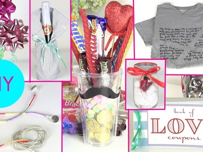 DIY Gift Ideas for Him & Her ! 7 DIY Gift Ideas for Boyfriends or Girlfriends