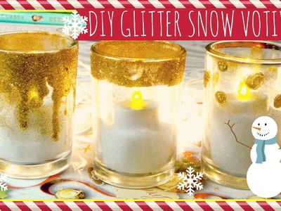 ❄ DIY Glitter Snow Votives ❄