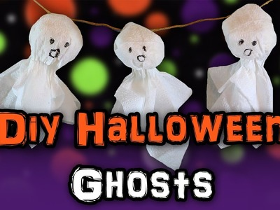 DIY HALLOWEEN Ghosts (Decorate a HAMSTER cage!)