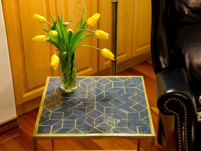 DIY: How to Build a Mosaic Epoxy Tabletop For Under $52
