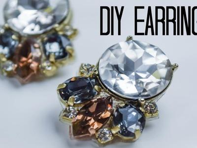 DIY Rhinestone Statement Earrings