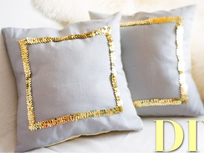 DIY Sequin Throw Pillow Covers {Martha Stewart} | Nekkoart