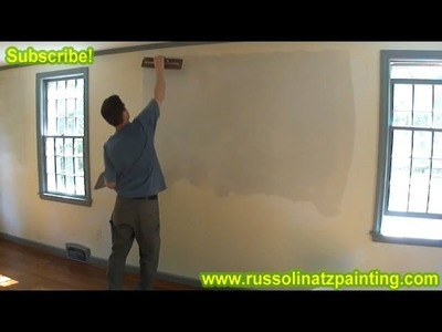 DIY Skim Coating a Wall using Hawk & Trowel, and All purpose Joint Compound