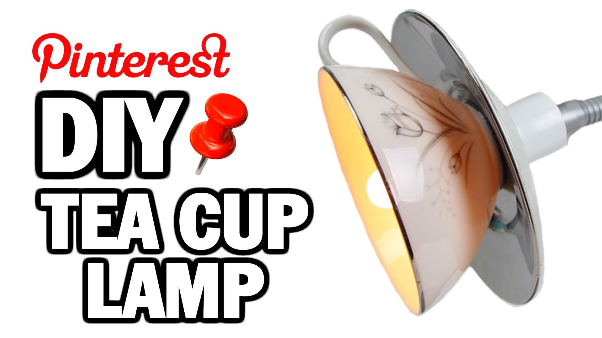 DIY Tea Cup Lamp - MAN VS PIN #2