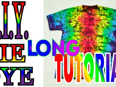 DIY Tie Dye Rainbow Reflection Shirt [Long Tutorial]