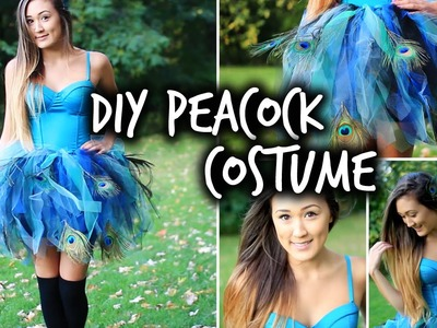 Easy DIY Peacock Halloween Costume | LaurDIY
