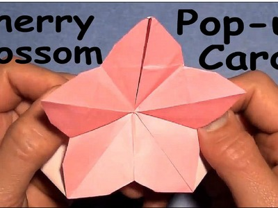 Fold Origami Cherry Blossom Pop-Up Card by Jeremy Shafer
