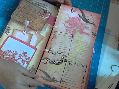 Handmade Wedding Guest Book. Mini Album. Scrapbookgiggles Pink and Pretty!